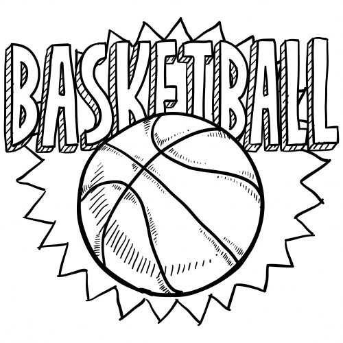 Sports Coloring Pages – Basketball #2 | Drawings, Printing and Free ...