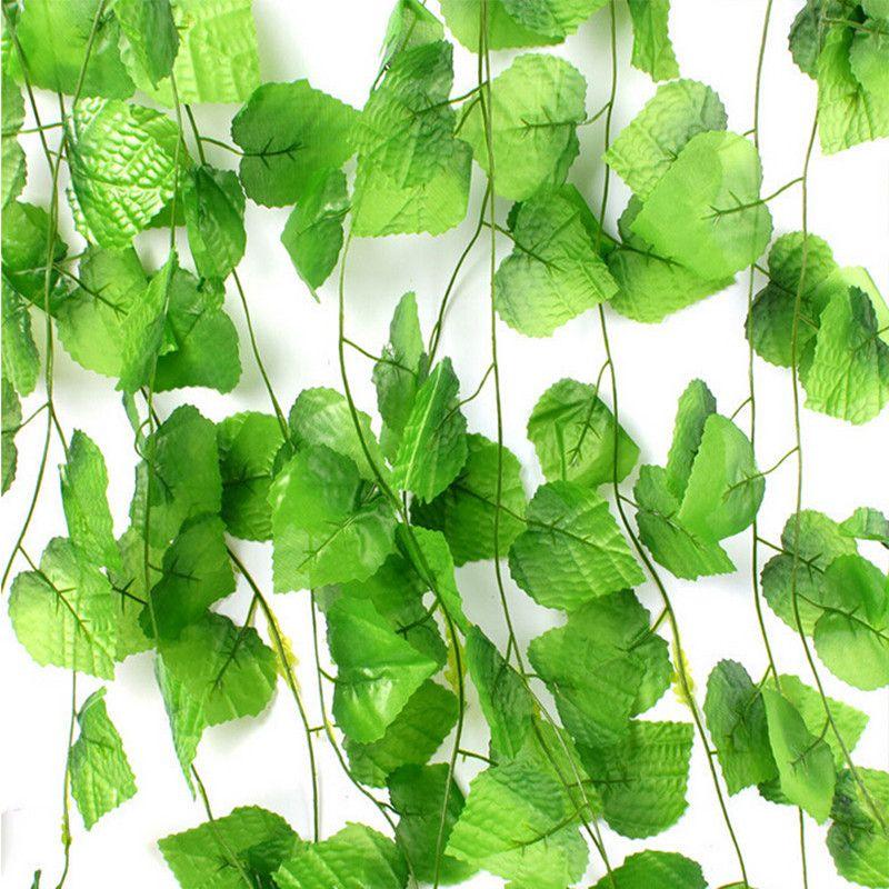 230 cm 7 5 ft panjang tanaman buatan hijau daun anggur buatan ivy vine palsu daun dekorasi rumah. Black Bedroom Furniture Sets. Home Design Ideas