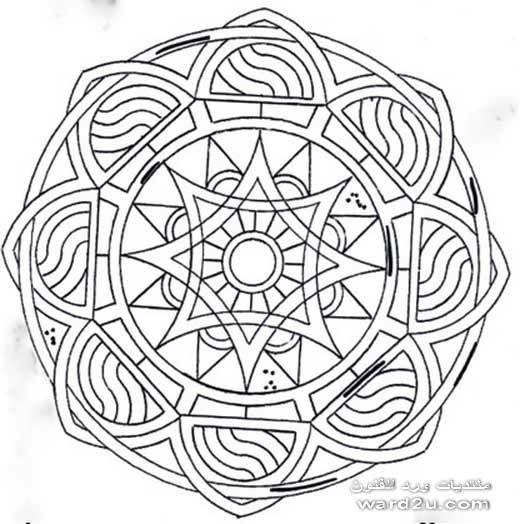 زخارف هندسيه مبتكره فى دائره و مربع Geometric Coloring Pages Mandala Coloring Pages Mandala Coloring
