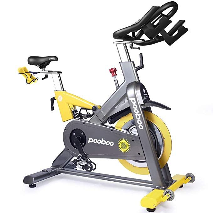 L Now Pro Indoor Cycling Bike Yellow Biking Workout Indoor Cycling Bike Bicycle Workout