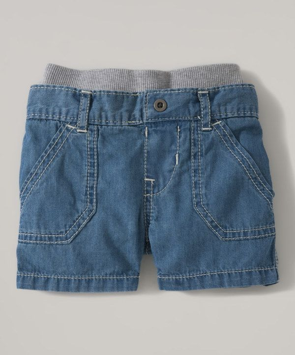 Love this Chambray Denim Shorts - Infant & Toddler by Burt's Bees Baby on #zulily! #zulilyfinds