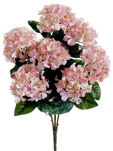 Light Pink Silk Hydrangea Bush Budget Wedding Afloral Com Boda
