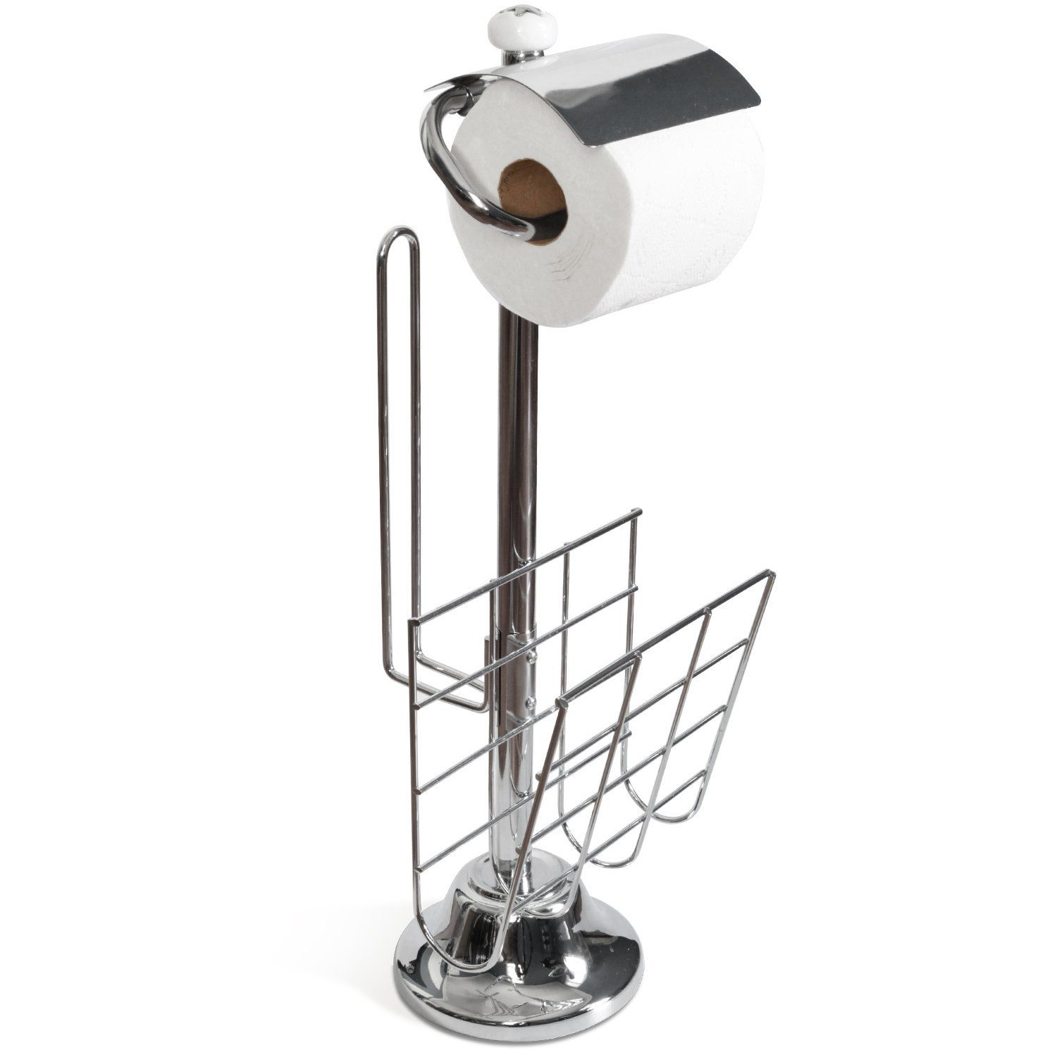 Toilettree Products Toilet Caddy Tissue Dispenser With Magazine Rack Our Elegan Toilet Paper Holder Free Standing Toilet Paper Holder Toilet Paper Roll Holder