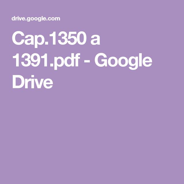 Cap.1350 a 1391.pdf - Google Drive | Libros de lectura ...