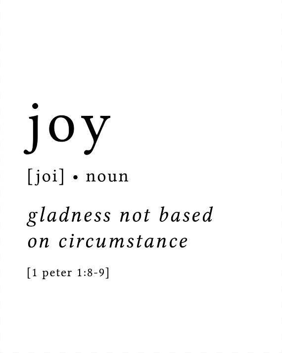 Joy Print / Definition Print / Fruit of the Spirit / Fruits of the Spirit / Bible Verse Print / Galatians 5 / Bible Verse Art / Galatians #bible