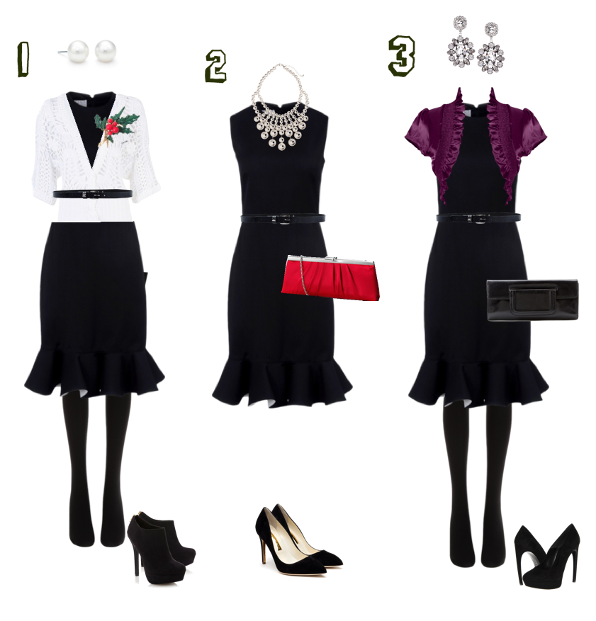 5 Holiday Party Looks (with a Little Black Dress) | Bit Square