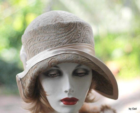 Womens Hats Vintage Great Gatsby Flapper Party Style Cloche Special  Occasion Hats for Evening or Dressy Hat 8e38573a164a