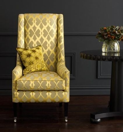 I love this Gilded Chair - against the black wall. (I don\'t think I ...