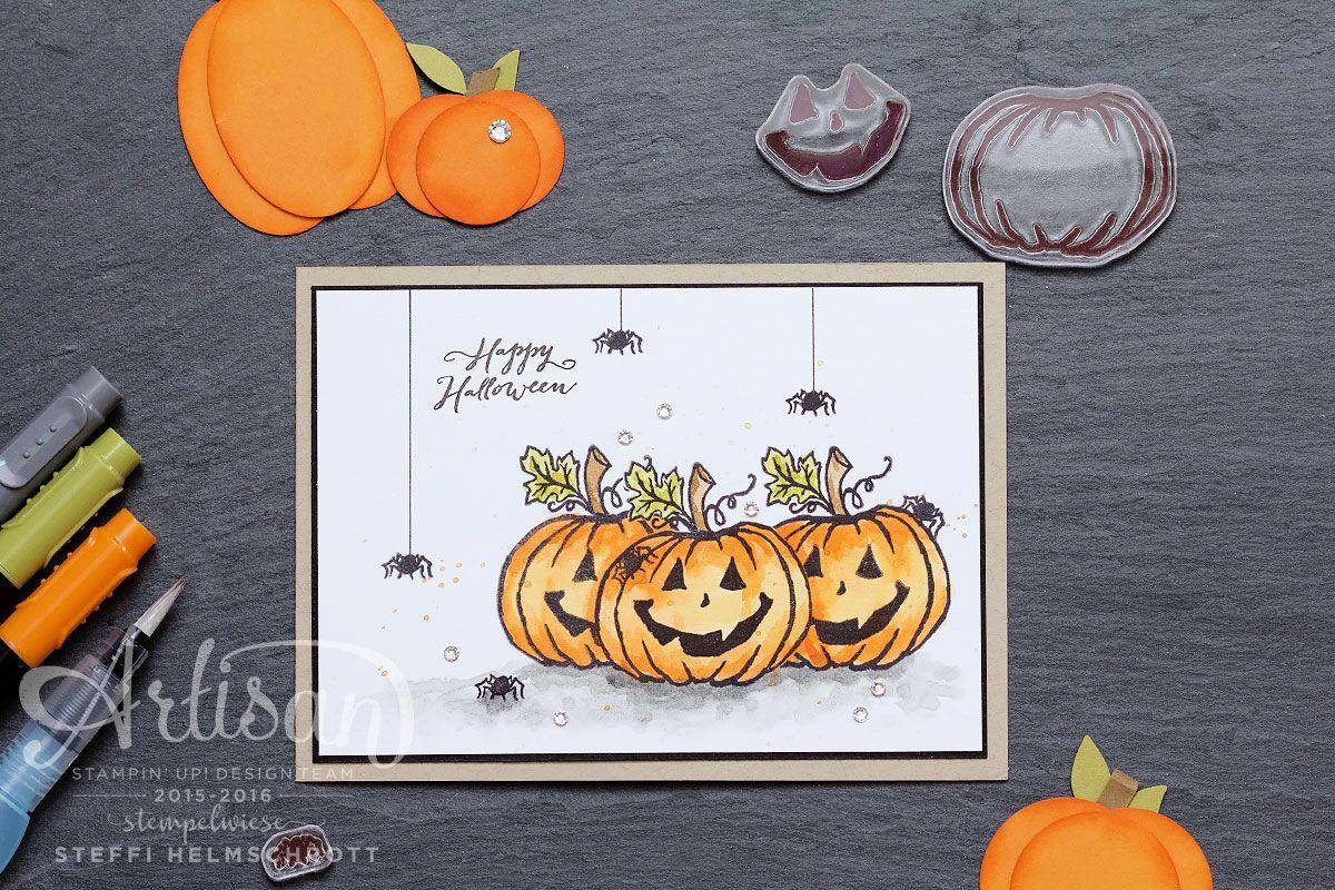 Artisan Blog Hop - Halloweenkarte in 3 Varianten   Happy halloween ...