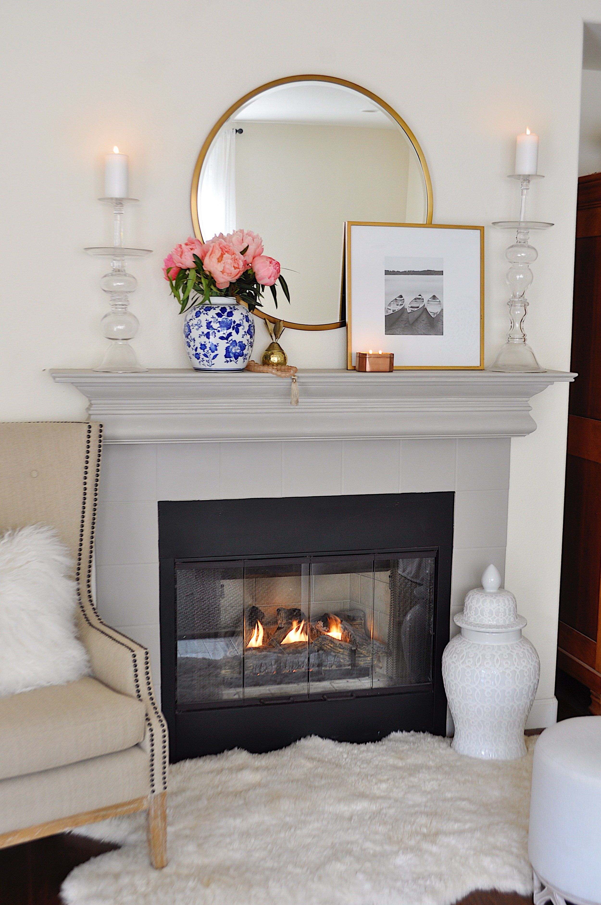 Simple Summer Decorating Ideas For My Home | Summer mantle ...
