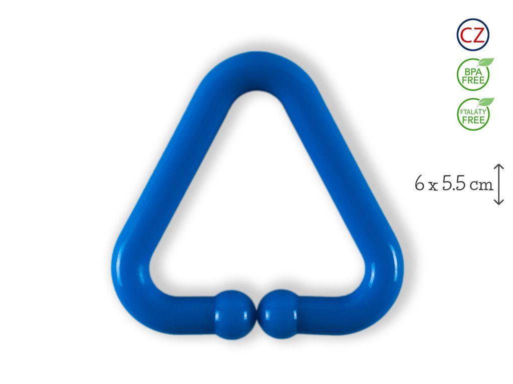 Klip na hračku trojúhelník modrý klip na kočárek pinterest toy