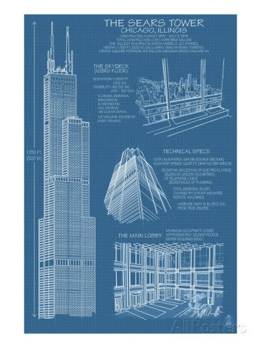Sears tower blue print chicago il c2009 sears tower blue print chicago il c2009 prints by lantern press malvernweather Gallery