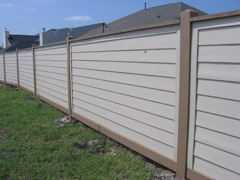 6 Ft Hardiplank Fence 6x6 Exposed Posts With Cap And Trim Building A Fence Fence Styles Fence