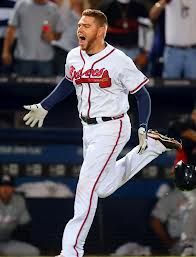 Freddie Freeman Gibby Nominee For Walk Off Of The Year For His Homer That Clinched Braves Playoff Game Go To Mlb Co Atlanta Braves Braves To My Future Husband