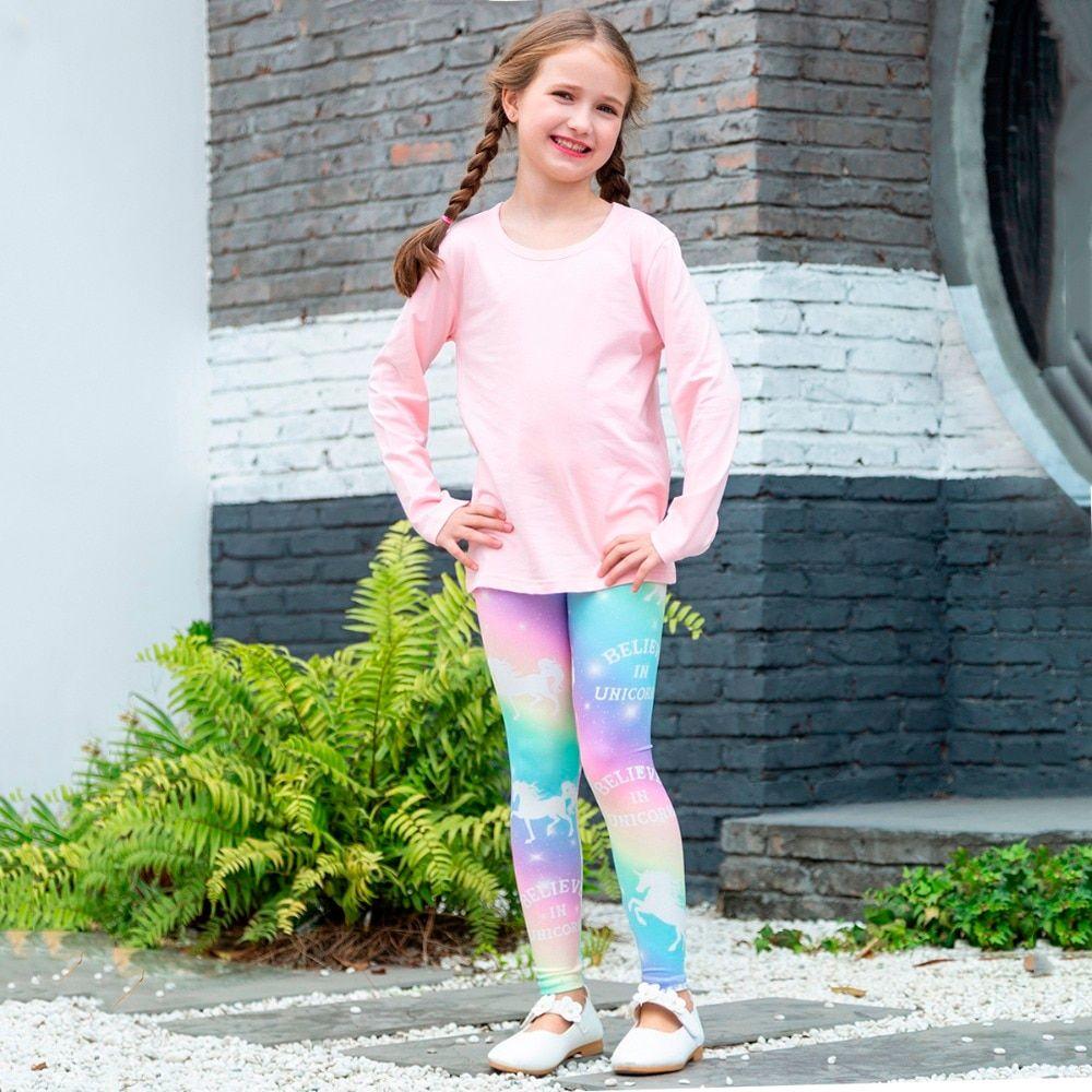 Cotton Leggings Girl Pants Kids Wear Girls Pink Leggings Toddler Leggings Kids Clothes Girls Outfit Toddler Clothing Kids Yoga Pants