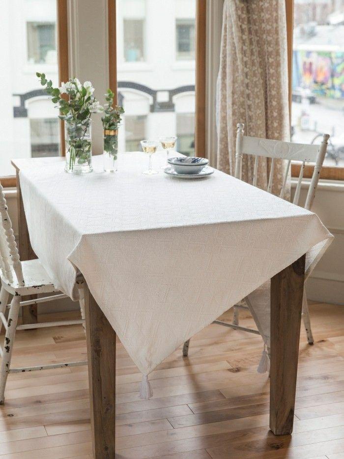 Tischdecke Weiß Tischdeko  Dekoration  Pinterest Magnificent Dining Room Tablecloths Design Ideas