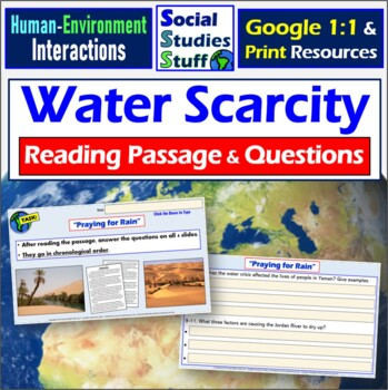 Google Classroom Water Scarcity Article & Questions