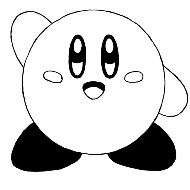 How to draw kirby tattoo ideas pinterest for Cute kirby coloring pages