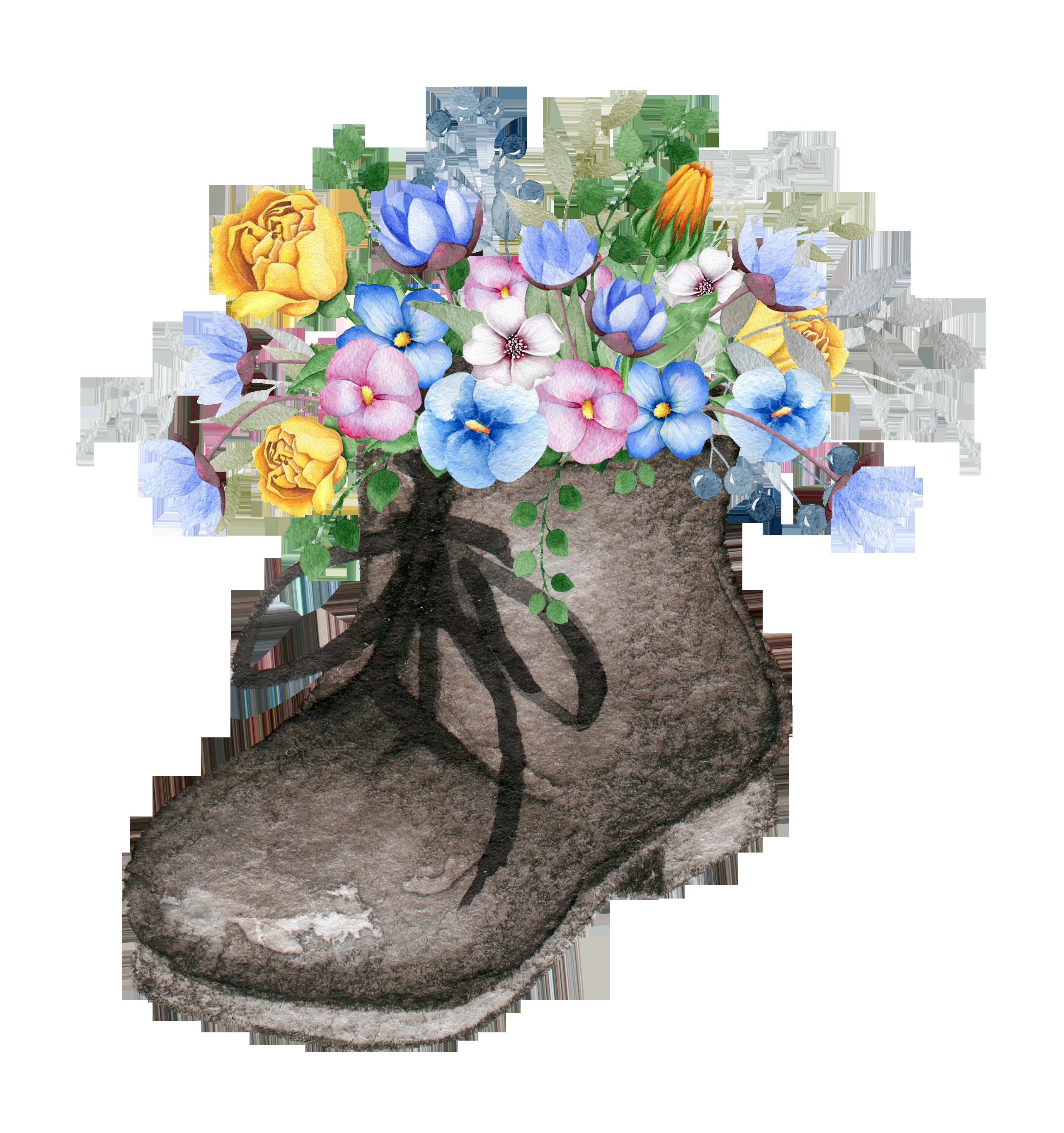Девушке, открытка с ботинками