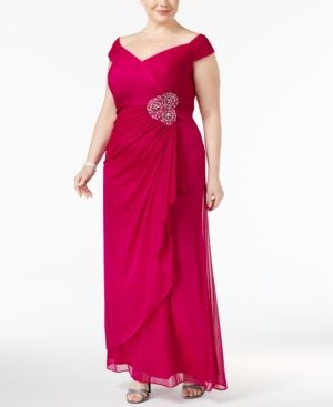 ba1a3fc63bbb Alex Evenings Plus Size Embellished A-Line Gown - Pink 22W ...