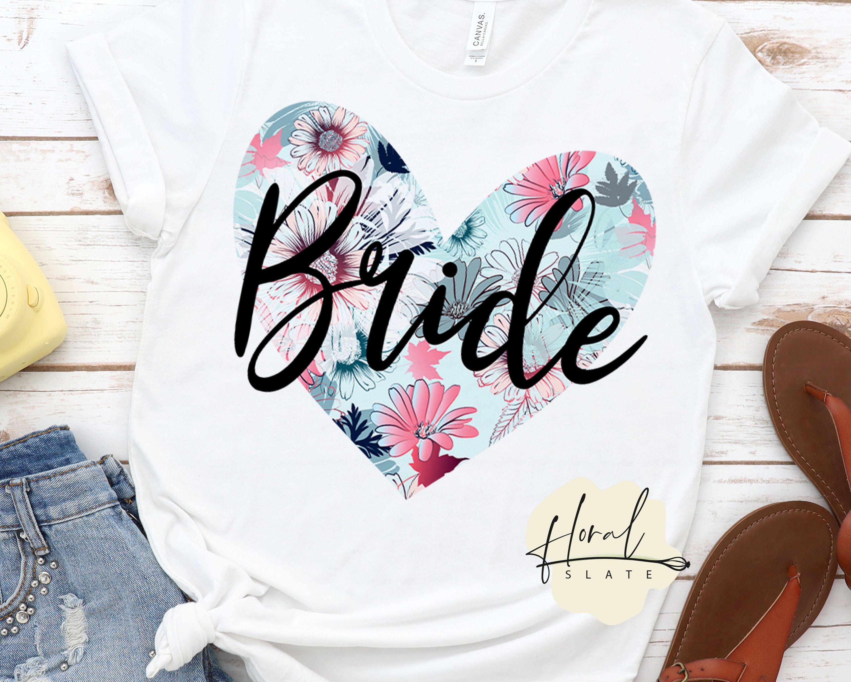 Bride floral sublimation graphics png files for