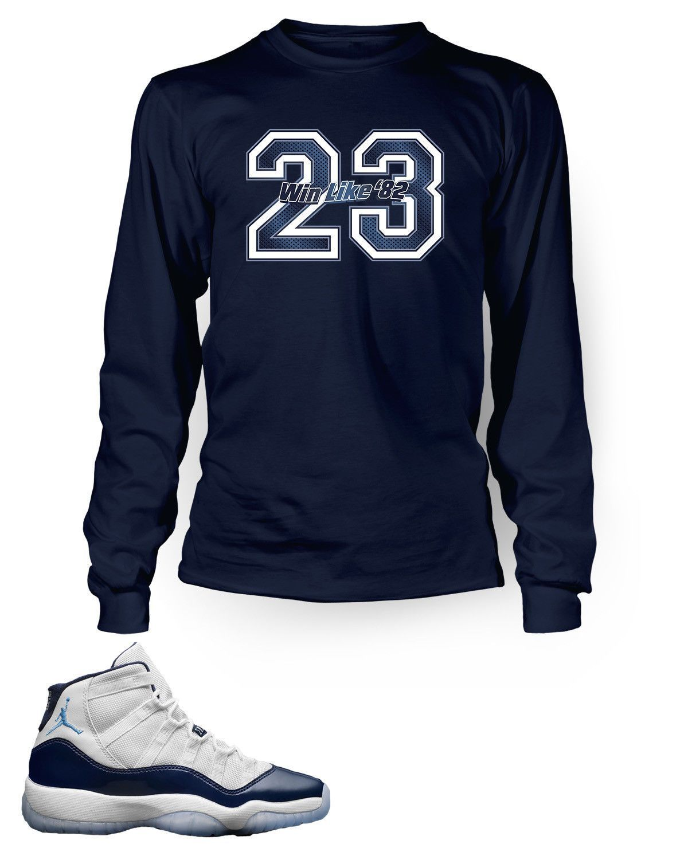 ed745f59178 New 23 Graphic T Shirt to Match Retro Air Jordan 11 Win Like 82 Shoe