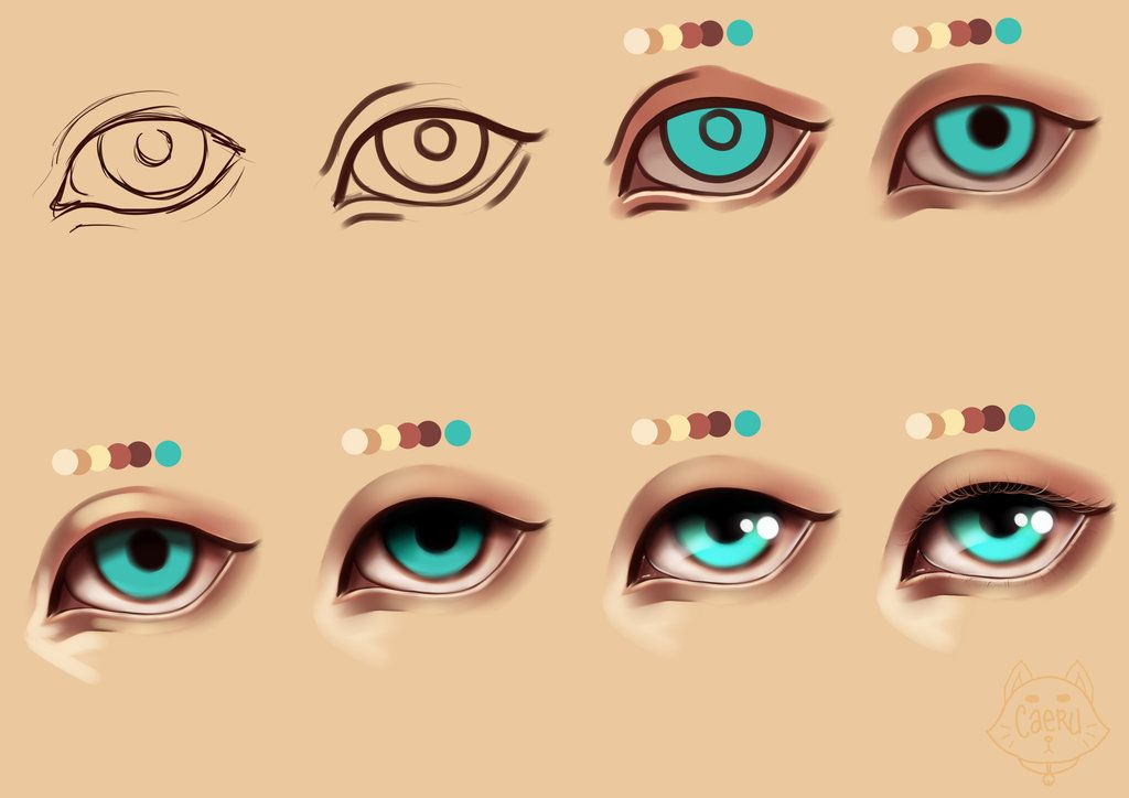 How To Paint Simple Semi Realism Eyes Psd File By Princecaeruu On Deviantart Semi Realism Painting Digital Painting