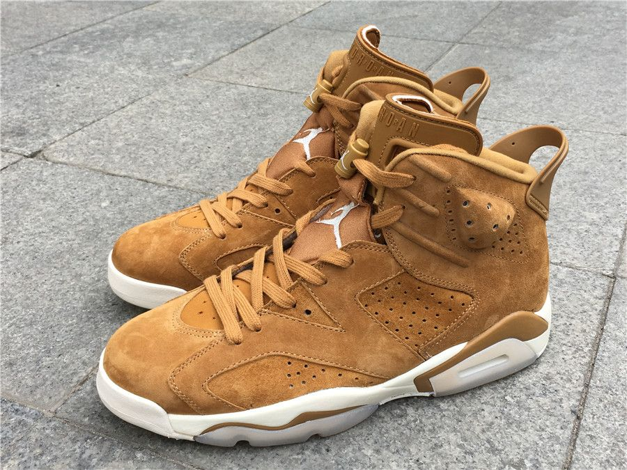 44bfb963ce19b2 NIKE AIR JORDAN 6 RETRO GOLDEN HARVEST SAIL GOLD 384664 705
