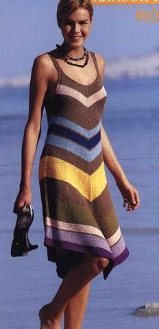 Платье с полосами | Вязание и рукоделие