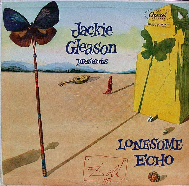 Jackie Gleason's 'Lonesome Echo' LP cover by Salvador Dali - 1955