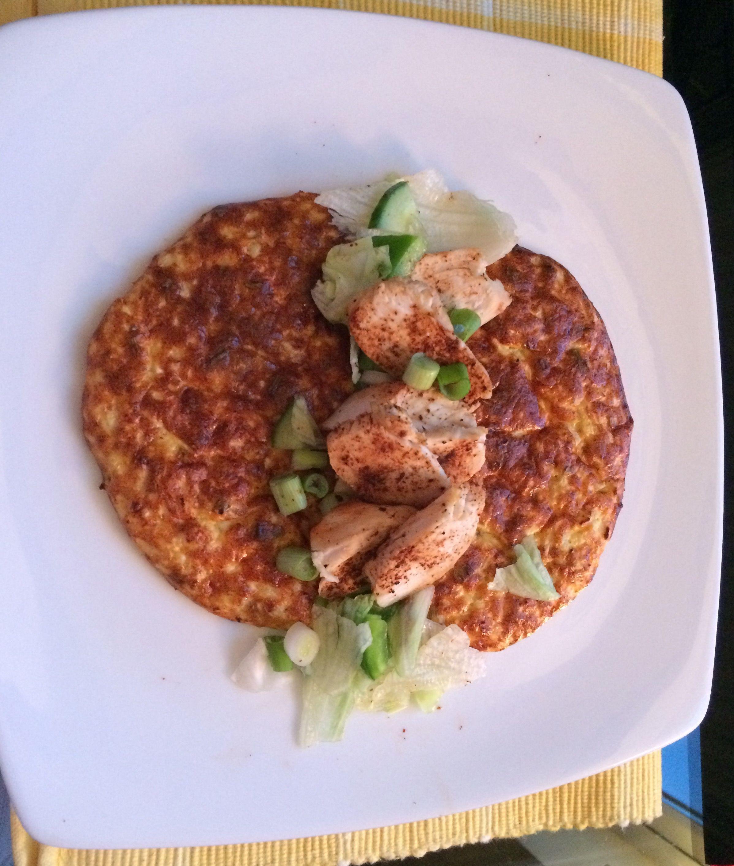 Sweet Chilli Chicken With Cauliflower Bread Cauliflower 50g Grated