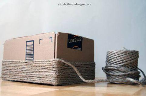 Cesta Para Ordenar Hecha Con Caja De Carton Reciclado Crafts Diy Home Diy