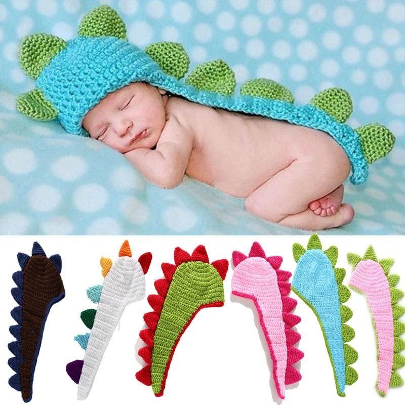 Newborn Knit Dinosaur Hat #dinosaur