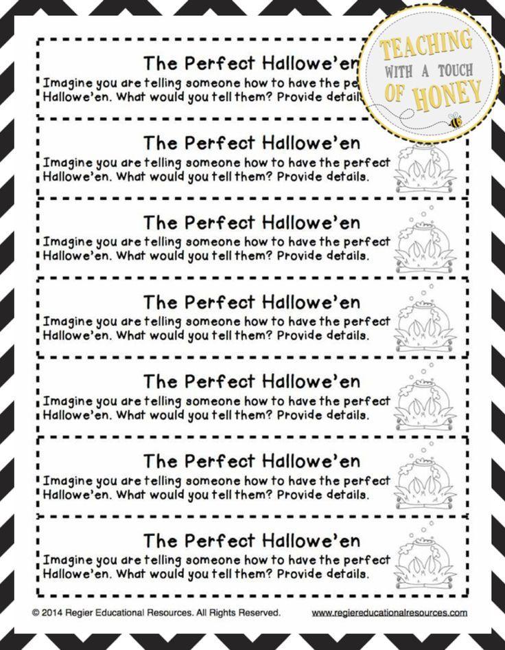 Halloween Writing Prompts Halloween Writing Activities Cut-and - halloween writing ideas