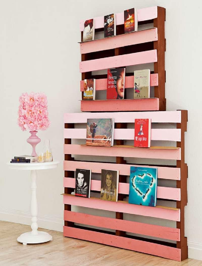muebles de palets construye con dos palets una estantera de diseo
