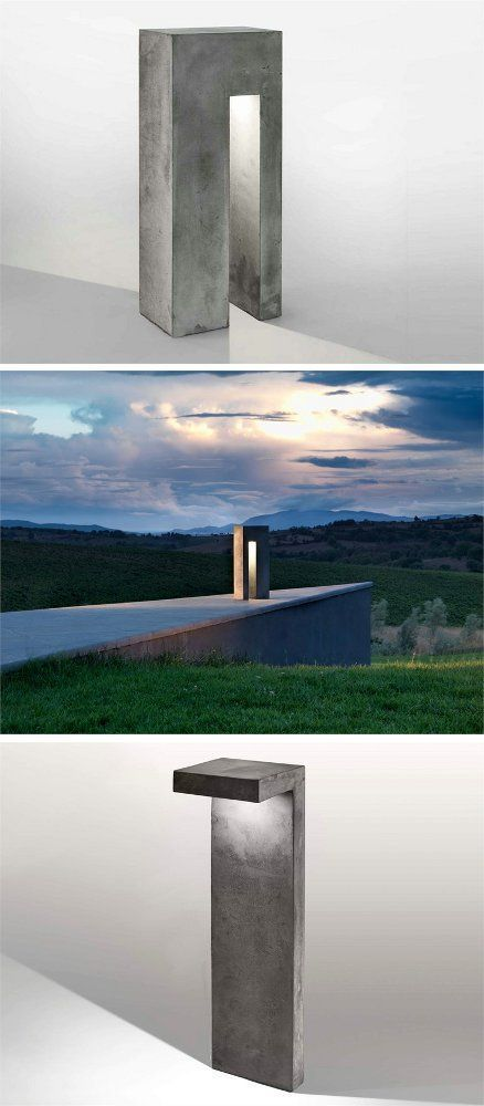Modern Outdoor Lighting Design: Cement Floor Lamp I-CEMENTI By LUCIFERO'S