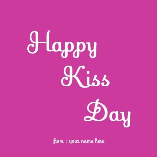 Best Happy Kiss Day Wish In Beautiful Style Happy Kiss Day Love