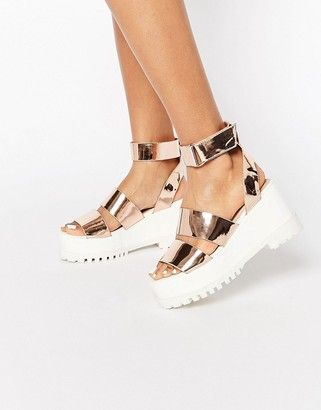 6905783f1f Asos TEASE ME Chunky Sandals | Shoes in 2019 | Chunky sandals, Shoes ...