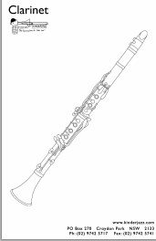 Free Colouring In For Preschoolers All About Clarinet 教育 関連