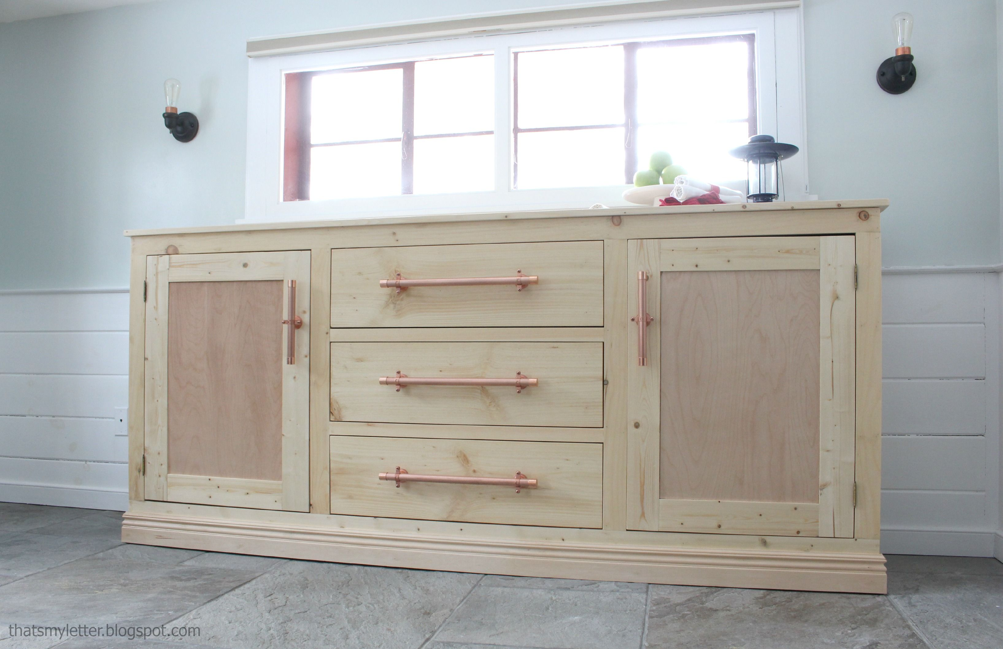 Build A Extra Long Buffet Cabinet Free And Easy Diy Project And