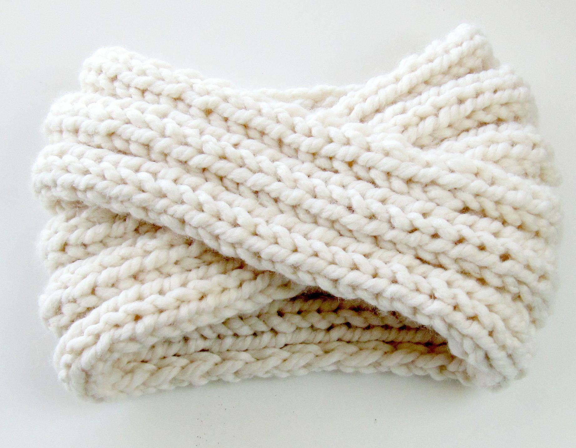 Chunky knit turban headband ear warmer neat pinterest chunky knit turban headband ear warmer bankloansurffo Image collections
