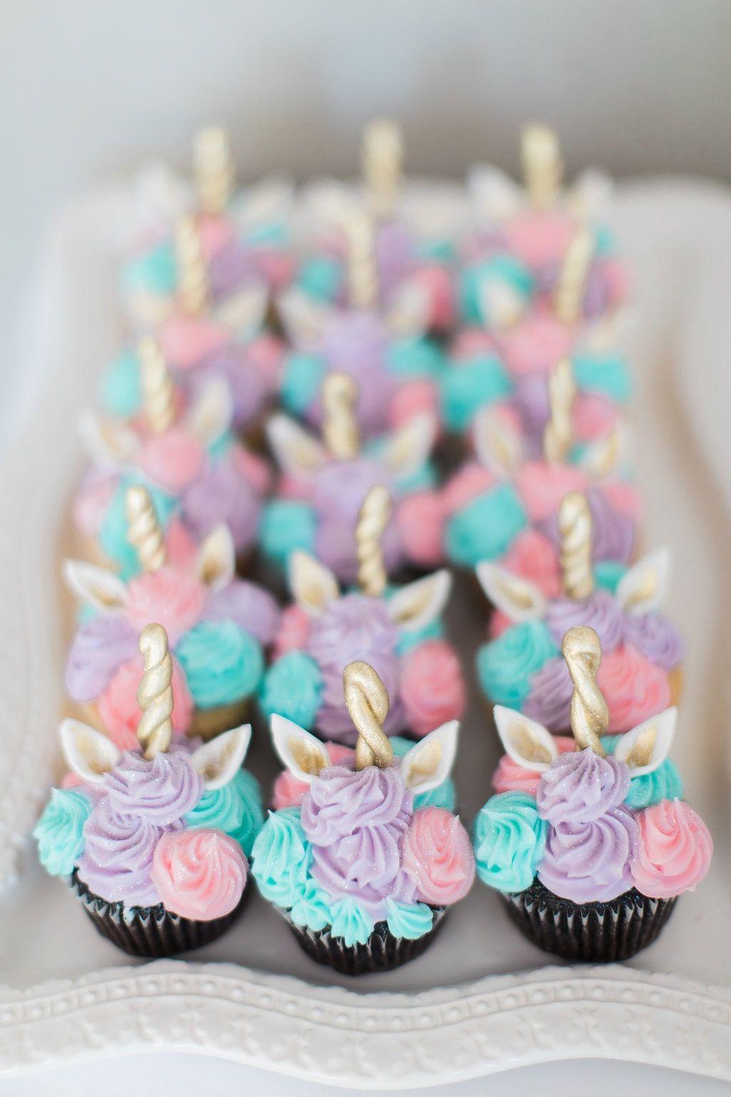 Babys 1st Birthday Unicorn Cupcakes Whimsical