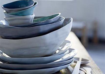 crockery - blauw serviesgoed