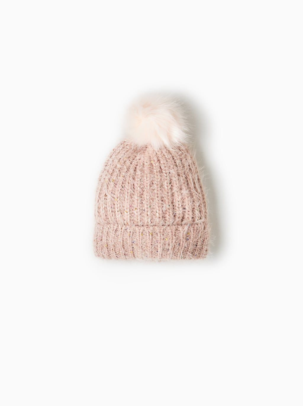 1770f0aaa78 Image 1 of HAT WITH FAUX FUR POMPOM AND SEQUINS from Zara ...