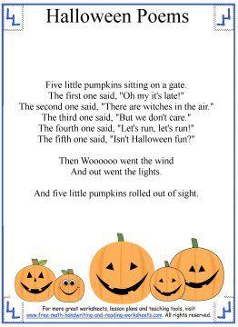 fun halloween poems for preshool through grade children five little pumpkins activity sheets and craft ideas