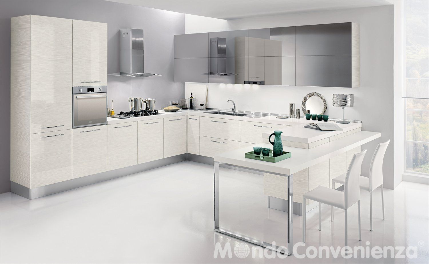 Cucina Seventy - Mondo Convenienza - | Kitchen | Pinterest | Bench ...