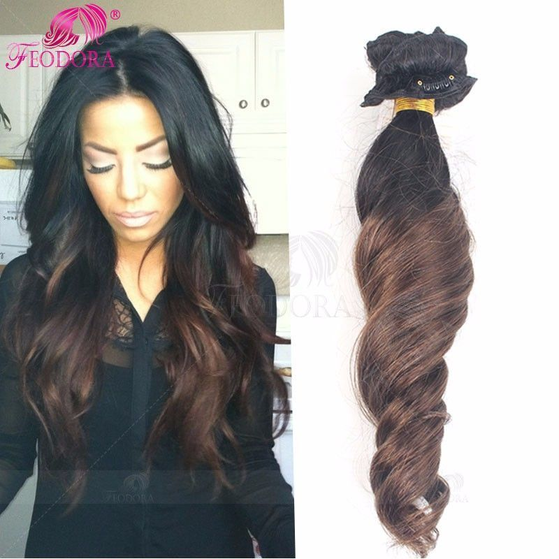 Clip In Human Hair Extensions Ombre Clip In Hair Extensions