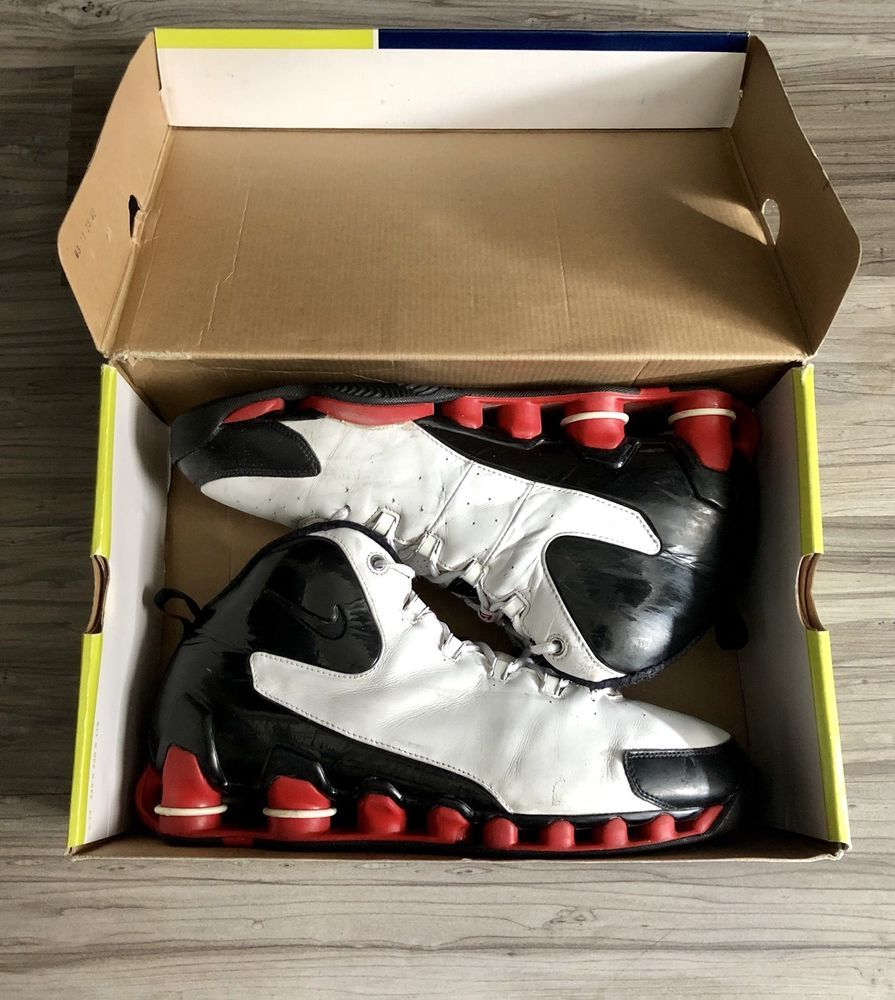 b1dcc6daab3efe Nike shox vince carter vc 3 iii wht blk  red basketball shoe (307111 ...