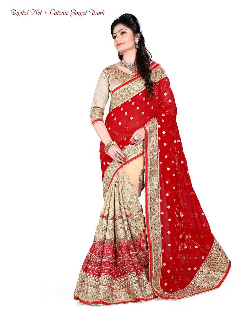 766077c16d2e21 Sari Bollywood Pakistani Dress Ethnic Wedding Party Designer Saree Indian  1965 #Kriya #TraditionalSaree