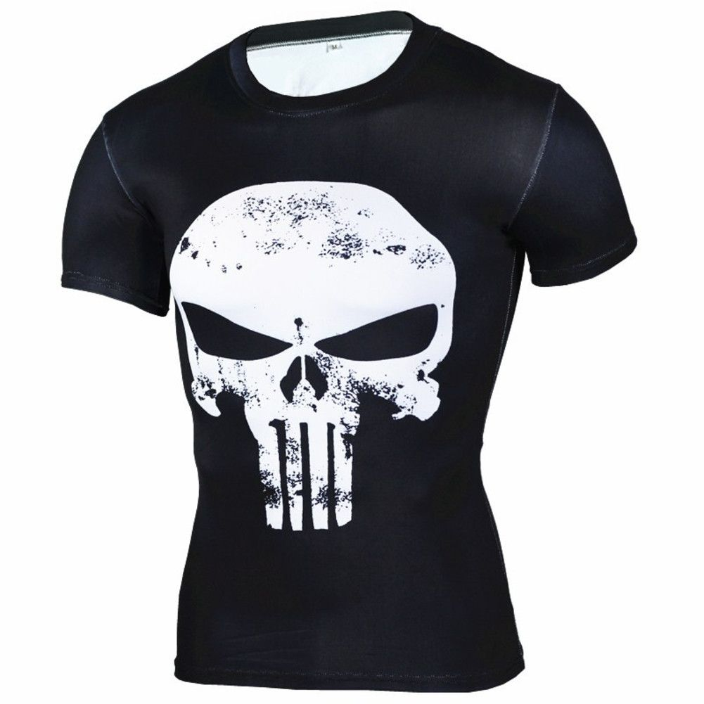 American Punisher B/&W Skull Women/'s V-Neck T-Shirt Ready to ship!